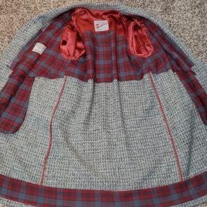 Rock-Knit Jackets & Coats - atomic fleck grey tweed men's 1950's over coat L